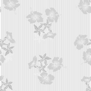 TAPETAI HIBISCUS Grey_White