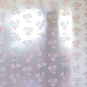 TAPETAI HIBISCUS Pink_Silver