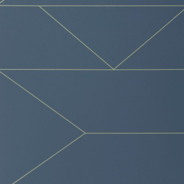 TAPETAI LINES WALLPAPER- DARK BLUE, FERMLIVING