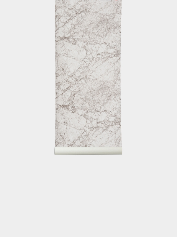 TAPETAI MARBLE WALLPAPER-WHITE, FERMLIVING