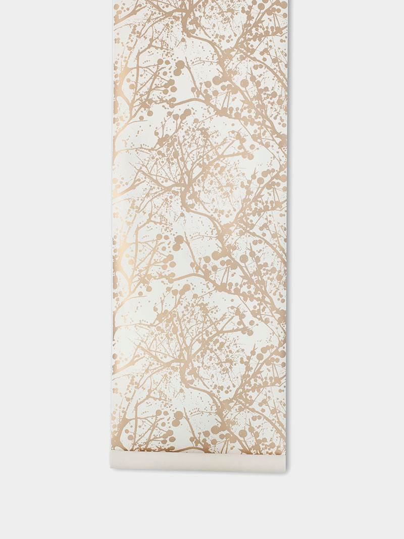 TAPETAI WILDERNESS WALLPAPER - GOLD, FERMLIVING