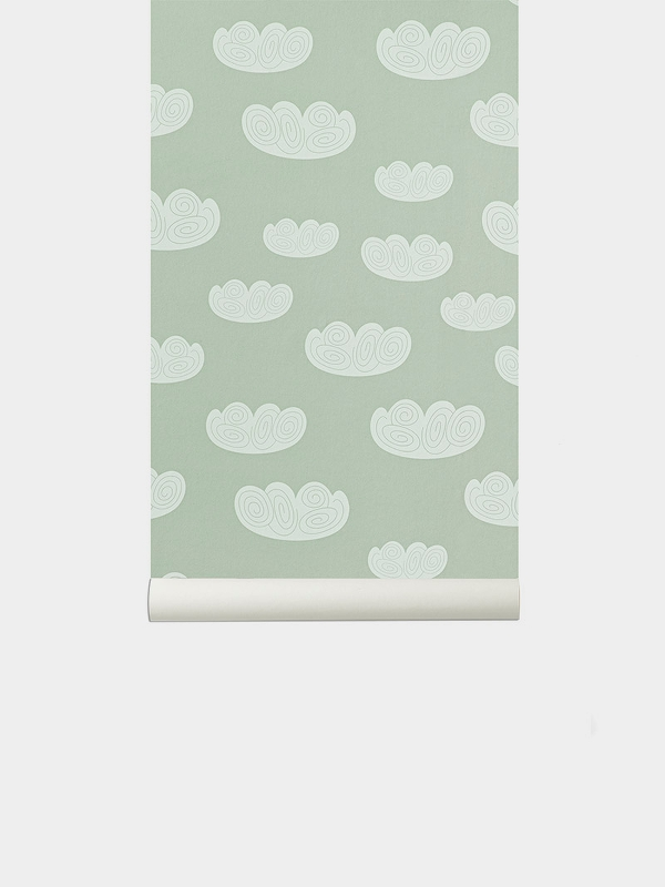TAPETAI FERMLIVING, Cloud Wallpaper - Mint