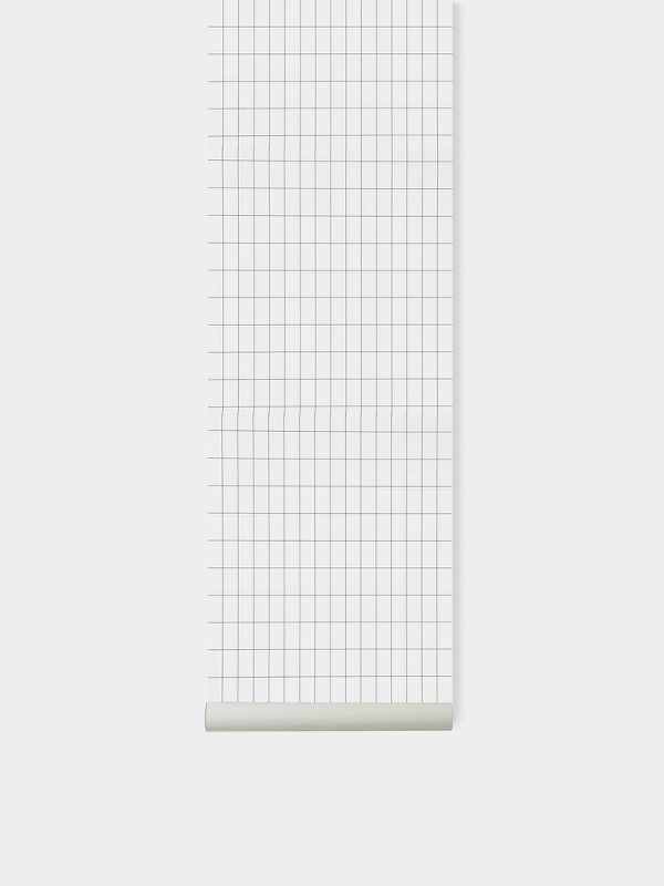 TAPETAI FERMLIVING, Grid Wallpaper - Black White
