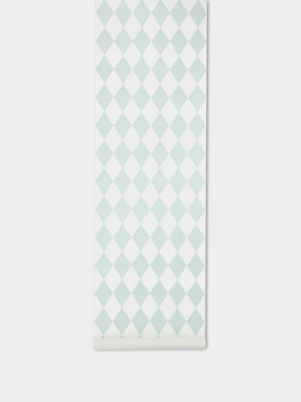 TAPETAI FERMLIVING, Harlequin - mint