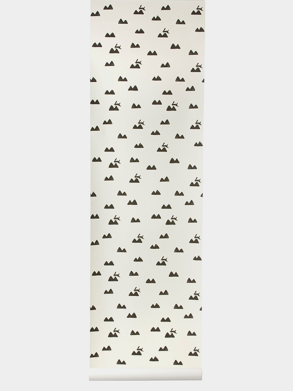 TAPETAI FERMLIVING, Rabbit Wallpaper - Off-White