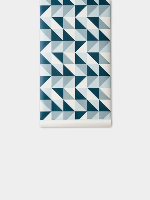 TAPETAI FERMLIVING, Remix Wallpaper - Blue