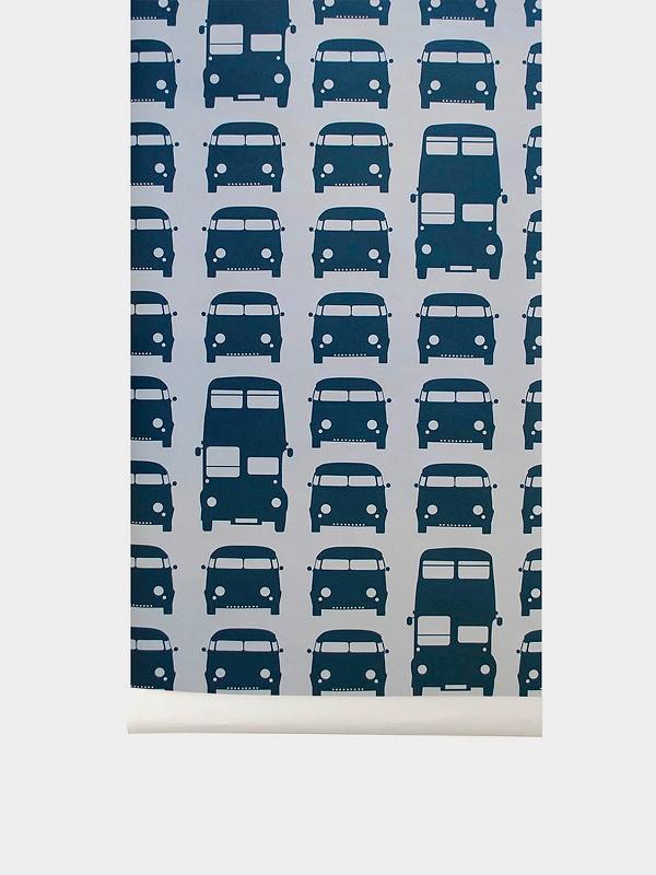 TAPETAI FERMLIVING, Rush Hour Wallpaper - Petrol