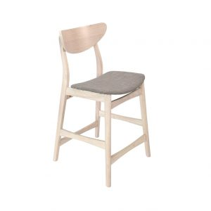 baro kėdė William Bar stool, white wash grey, 2pcs