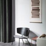fotelis Herman Lounge Chair - Black interjere
