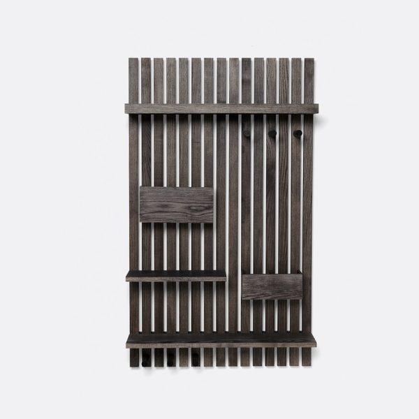 lentyna Wooden Multi Shelf - Stained Black