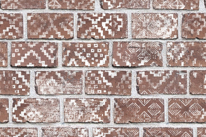 Tapetai Rebelwalls, home, Decorated Bricks, Red