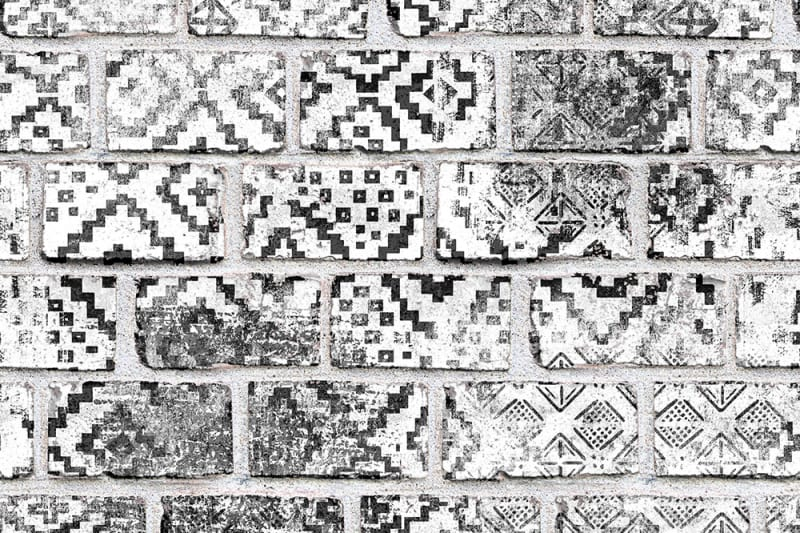 Tapetai Rebelwalls, home, Decorated Bricks
