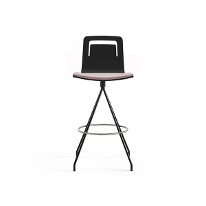 kėdė Klip Swivel Bar Stool w. Cushion and Handle