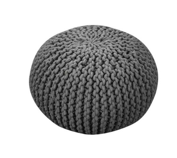 pufas Moro Recycled Hand-woven Cotton Pouf