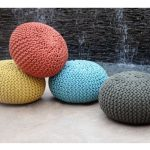 pufas Moro Recycled Hand-woven Cotton Pouf interjere
