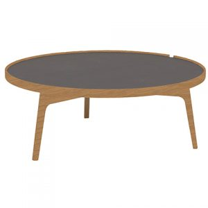 staliukas Racquet sofatable round 105cm oak oiled