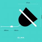 ŠVIESTUVAS ELMA - PORTABLE FLOOR LAMP MATMENYS