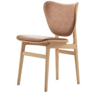 kėdė Elephant Dining Chair, Natural Frame Leather