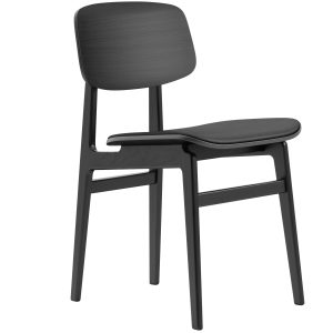 kėdė NY11 Dining Chair, Black Frame Leather