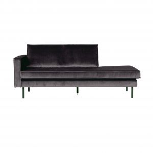 kušetė Rodeo daybed left velvet antraciet