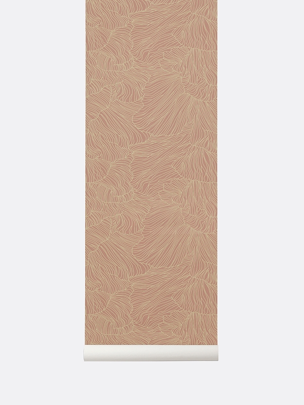 tapetai, fermliving, Coral Wallpaper, Dusty Rose Beige, 538