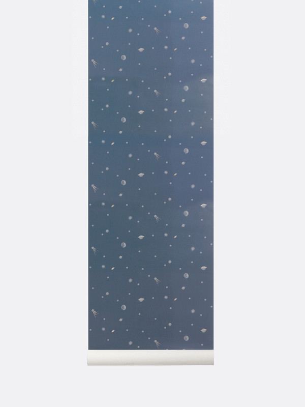 tapetai, fermliving, Moon Wallpaper, Dark Blue, 189
