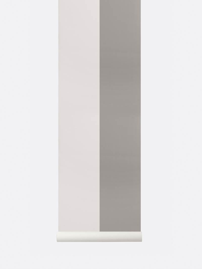 tapetai, fermliving, Thick Lines Wallpaper ,Grey-Off White, 181