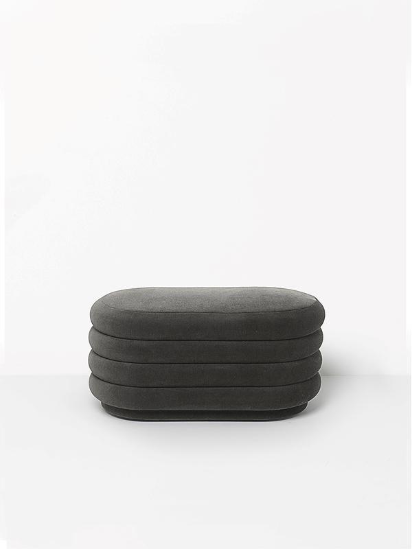 pufas Pouf Oval - Grey - Medium