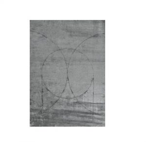 kilimas circulus grey