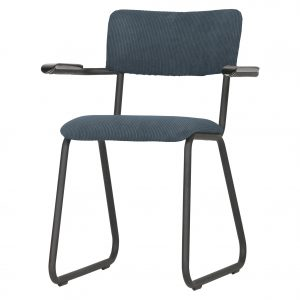 kėdė Ribb dining chair with arm ribcord steel blue 2
