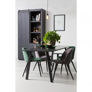 kėdė Set of 2 - fay dining chair velvet dark green interjere