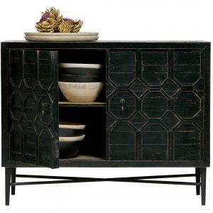 komoda Bequest 2-doors cabinet wood black 3