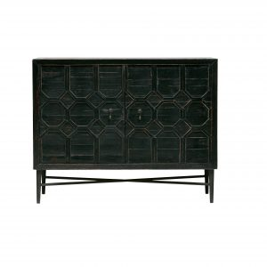 komoda Bequest 2-doors cabinet wood black