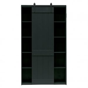 komoda Derby sliding door cabinet pine black 2