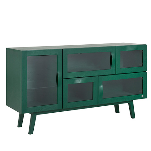 komoda-Rainbow-sideboard-133cm-elm-green-665G-133