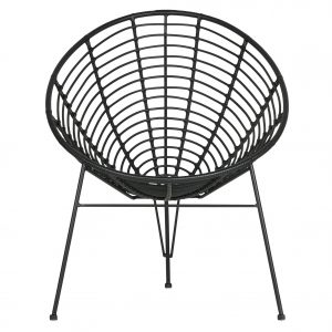 krėslas Jane lounge chair black