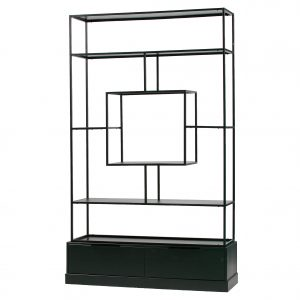 lentyna Fons cabinet metal wood black 2