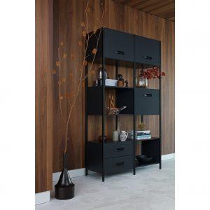 lentyna Legacy cabinet wood iron black interjere