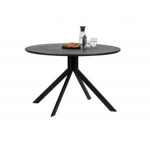 stalas Bruno dining table mdf black ø120 cm (2)