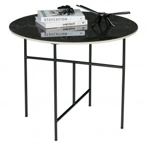 staliukas Vida coffee table with marble look tabletop black 48xø60 (2)