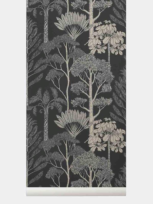 tapetai fermliving, Katie Scott Wallpaper, Trees, petrol