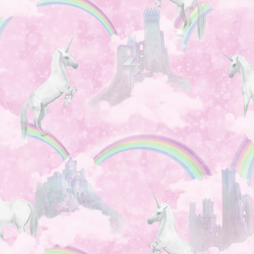 Tapetai make believe, I believe in unicorns pink, 12480