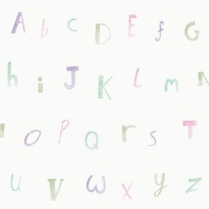 Tapetai make believe, alphabet cream heather, 12562