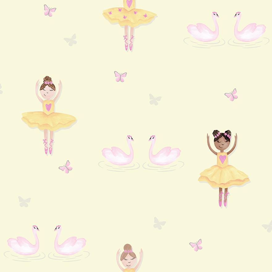 Tapetai make believe, ballerina yellow, 12462