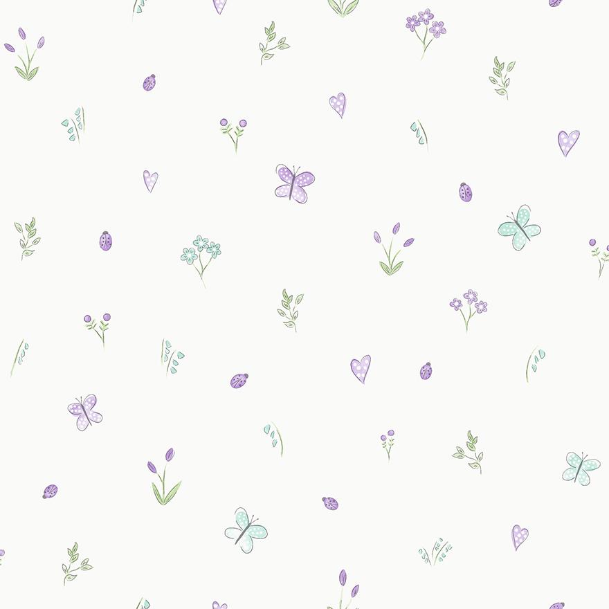 Tapetai make believe, butterfly garden cream, 12471