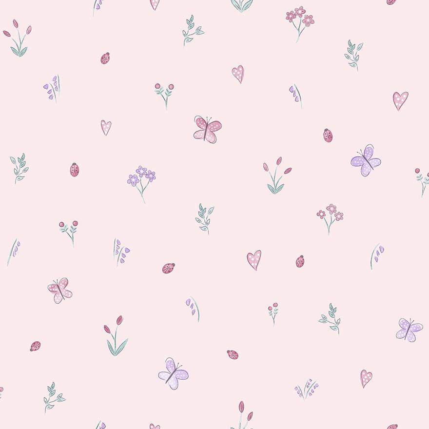 Tapetai make believe, butterfly garden pink, 12470