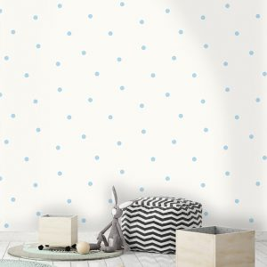 Tapetai make believe, dotty blue, 12603 interjere