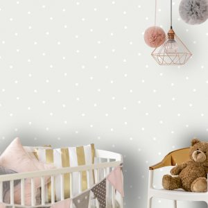Tapetai make believe, dotty grey, 12600 interjere