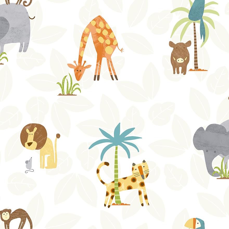 Tapetai make believe, jungle friends multi, 12541