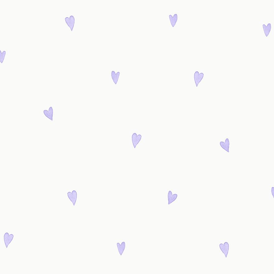Tapetai make believe, love hearts lilac, 12580